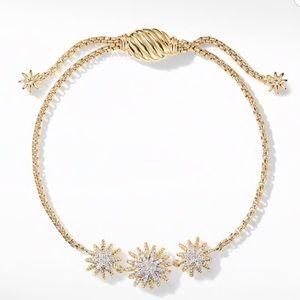 David Yurman Starburst Bracelet Diamond/18K Gold